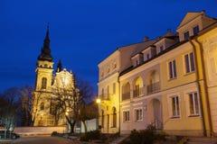 Santuario della nostra signora di Dzikow in Tarnobrzeg fotografia stock