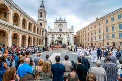 Santuario della Santa Casa, pilgrimage church in Loreto, Italy Royalty Free Stock Images