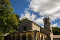 Santuario della Verna,托斯卡纳 免版税库存照片