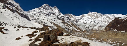 Santuario di Annapurna fotografie stock