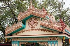 Santuario di Bhuddist in India fotografie stock