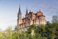 Santuario di Covadonga, Asturia, Spagna immagini stock