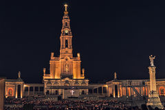 Santuario di Fatima, altare del mondo cattolico Fotografie Stock Libere da Diritti