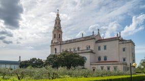 Santuario di Fatima, Portogallo Una posizione importante di pellegrinaggio e di Marian Shrines nel mondo per i cattolici immagini stock libere da diritti