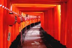 Santuario di Fushimi Inari a Kyoto immagini stock libere da diritti