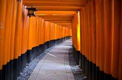 Santuario di Fushimi Inari, Kyoto Fotografia Stock