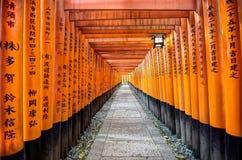 Santuario di Fushimi Inari, Kyoto Fotografie Stock Libere da Diritti