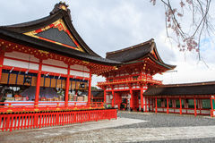 Santuario di Fushimi Inari, Kyoto Fotografia Stock Libera da Diritti