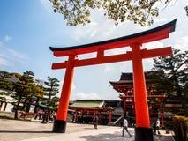 Santuario di Fushimi-Inari, Kyoto, Giappone immagini stock libere da diritti