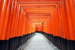 Santuario di Fushimi Inari, Kyoto, Giappone Immagini Stock Libere da Diritti