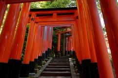Santuario di Fushimi Inari, Kyoto Giappone Fotografie Stock Libere da Diritti