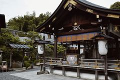 Santuario di Fushimi Inari-Taisha a Kyoto, Giappone immagine stock