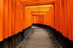 Santuario di Fushimi Inari Taisha nella città di Kyoto, Giappone Immagine Stock Libera da Diritti