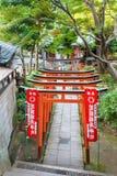 Santuario di Hanazono Inari a Tokyo Immagini Stock Libere da Diritti