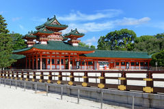 Santuario di Heian Fotografie Stock Libere da Diritti