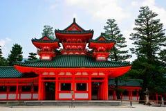 Santuario di Heian del Giappone Fotografie Stock Libere da Diritti