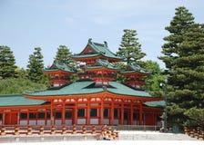 Santuario di Heian-Jingu Fotografia Stock