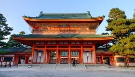 Santuario di Heian a Kyoto, Giappone immagine stock libera da diritti