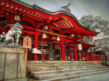 Santuario di Ikuta Fotografia Stock