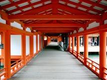 Santuario di Itsukoshima a Miyajima, Giappone Immagini Stock