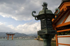 Santuario di Itsukushima, Miyajima, Giappone Immagini Stock Libere da Diritti