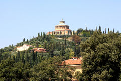 Santuario di Madonna di Lourdes a Verona italiana Fotografie Stock Libere da Diritti