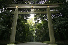 Santuario di Meiji Jingu a Tokyo centrale Fotografia Stock Libera da Diritti