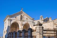 Santuario di Monte Sant ' Angelo. La Puglia. L'Italia. immagini stock