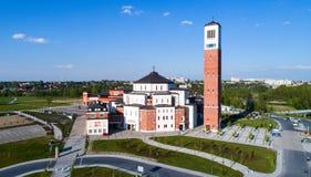 Santuario di Papa Giovanni Paolo II a Cracovia, Polonia Fotografia Stock Libera da Diritti