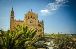 Santuario di Pinu di tum, chiesa di Gharb sull'isola Gozo, Malta fotografia stock libera da diritti