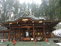 Santuario di Sakurayama Hachimangu, Takayama, Giappone immagini stock