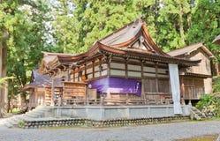 Santuario di Shirakawa Hachiman nel villaggio di stile di gassho di Ogimachi, Japa Fotografia Stock