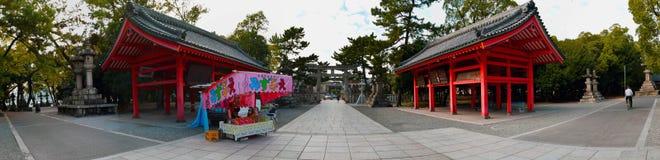Santuario di Sumiyoshi Taisha, Osaka Fotografia Stock Libera da Diritti