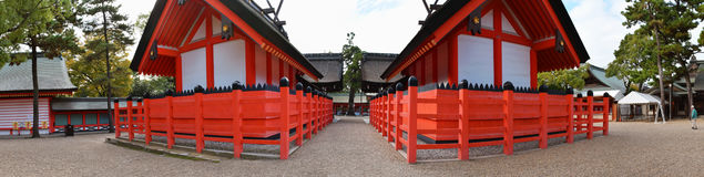 Santuario di Sumiyoshi Taisha, Osaka Fotografia Stock