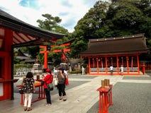 Santuario di taisha di Fushimi Inari a Kyoto, Giappone Fotografia Stock