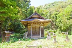 Santuario di Toyosaka di Iwami Ginzan, Omori, Giappone Fotografia Stock Libera da Diritti