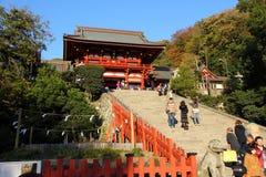 Santuario di Tsurugaoka Hachimangu Fotografie Stock Libere da Diritti