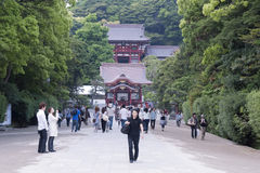Santuario di Tsurugaoka, Kamakura Fotografie Stock