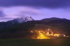 Santuario di Urkiola alla notte Fotografia Stock Libera da Diritti