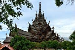 Santuario di verità, Pattaya Fotografia Stock Libera da Diritti