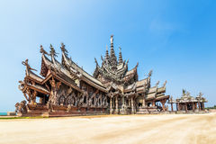 Santuario di verità a Pattaya, Tailandia Immagini Stock