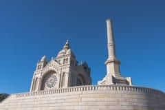 Santuario di Viana do Castelo Santa Luzia fotografie stock libere da diritti