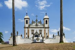 Santuario do Senhor Bom Jesus de Matosinhos. Built bewteen 1758 and 1771. Located in Congonhas do Campo, Minas, Brazil Stock Images