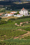 Santuario do Sr. da Pedra seen from Obidos Stock Image