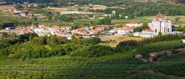 Santuario do Sr. da Pedra seen from Obidos Stock Photo