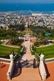 Santuario e giardini di Baha'i a Haifa, Isreal Immagini Stock