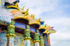 Santuario esmaltado de la teja, arte contemporáneo Fotos de archivo