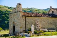 Santuario Giovanni Paolo II, San Pietro della Ienca, Abruzzo, Itália Foto de Stock Royalty Free