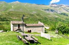 Santuario Giovanni Paolo II, San Pietro della Ienca, Abruzzo, Italy Stock Image