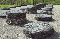 Santuario grande de la piedra caliza de Sarmizegetusa Regia Foto de archivo libre de regalías